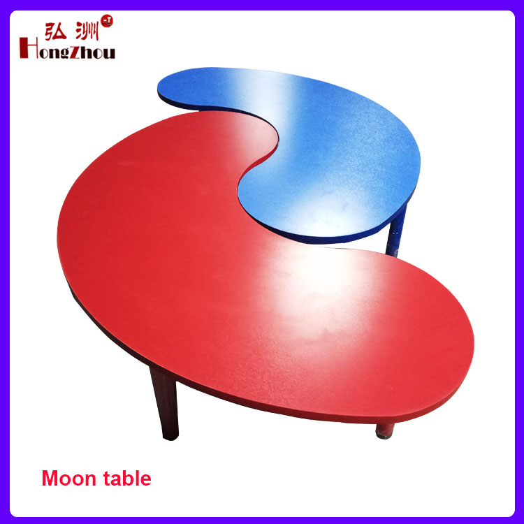 Nursery School Half Moon Shape Table Pre-school Desk and Chair
