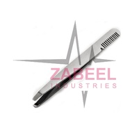 Eyebrow Tweezers with Eyebrow Comb Makeup Accessories Face Hair Remover Stainless Steel Beauty Instrument By Zabeel Industries