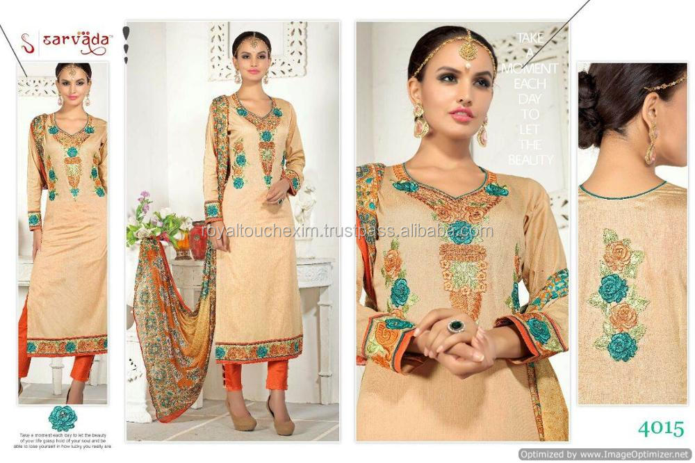 ladies designer party wear salwar kameez dress material in surat wholesale price