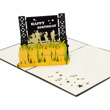 Music Show Pop Up Card/ 3D Pop Up Handmade Festival Music Happy Best Wishes Greeting Card
