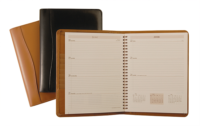 Leather Desk Weekly Planner