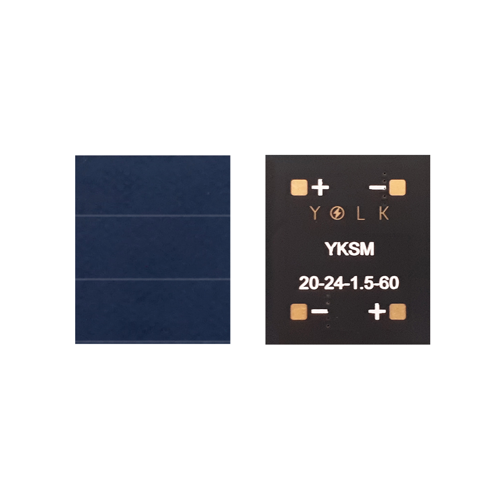 23.7% monocrystalline solar panel for BLE, IoT, beacon, wearable, home security, industrial appliances (13) YKSM 20-24-1.5-6