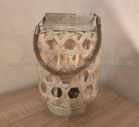 Perfect for home decoration Rattan Bamboo wooden lantern