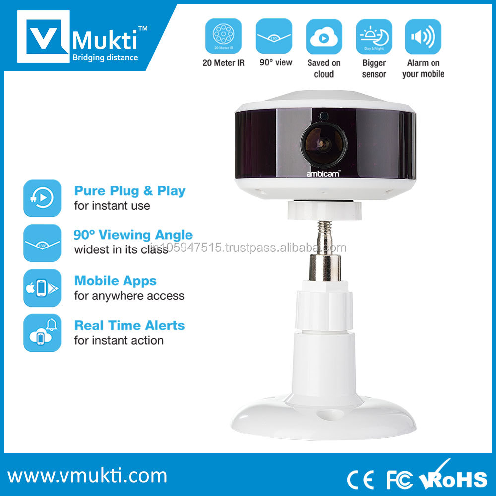Wireless camera with night vision & 2 way talk system
