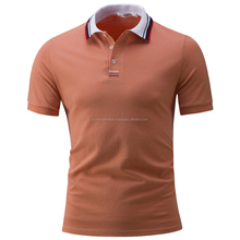 High Quality Men's Polo Shirts fashion Style Summer Striped short sleeve polos
