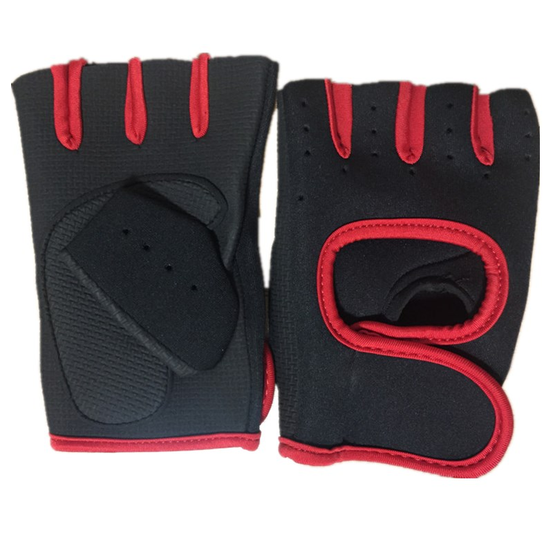 Exercise Leather Finger less Men Weight Training Gloves Cycling Wheel chair