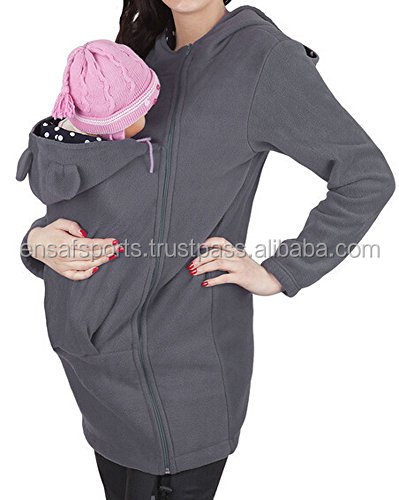 Women's Zip Up Baby Carrier Hoodie Infant Sling Sweatshirt Plus Size,Mom Jacket comfortable fleece hoodies,