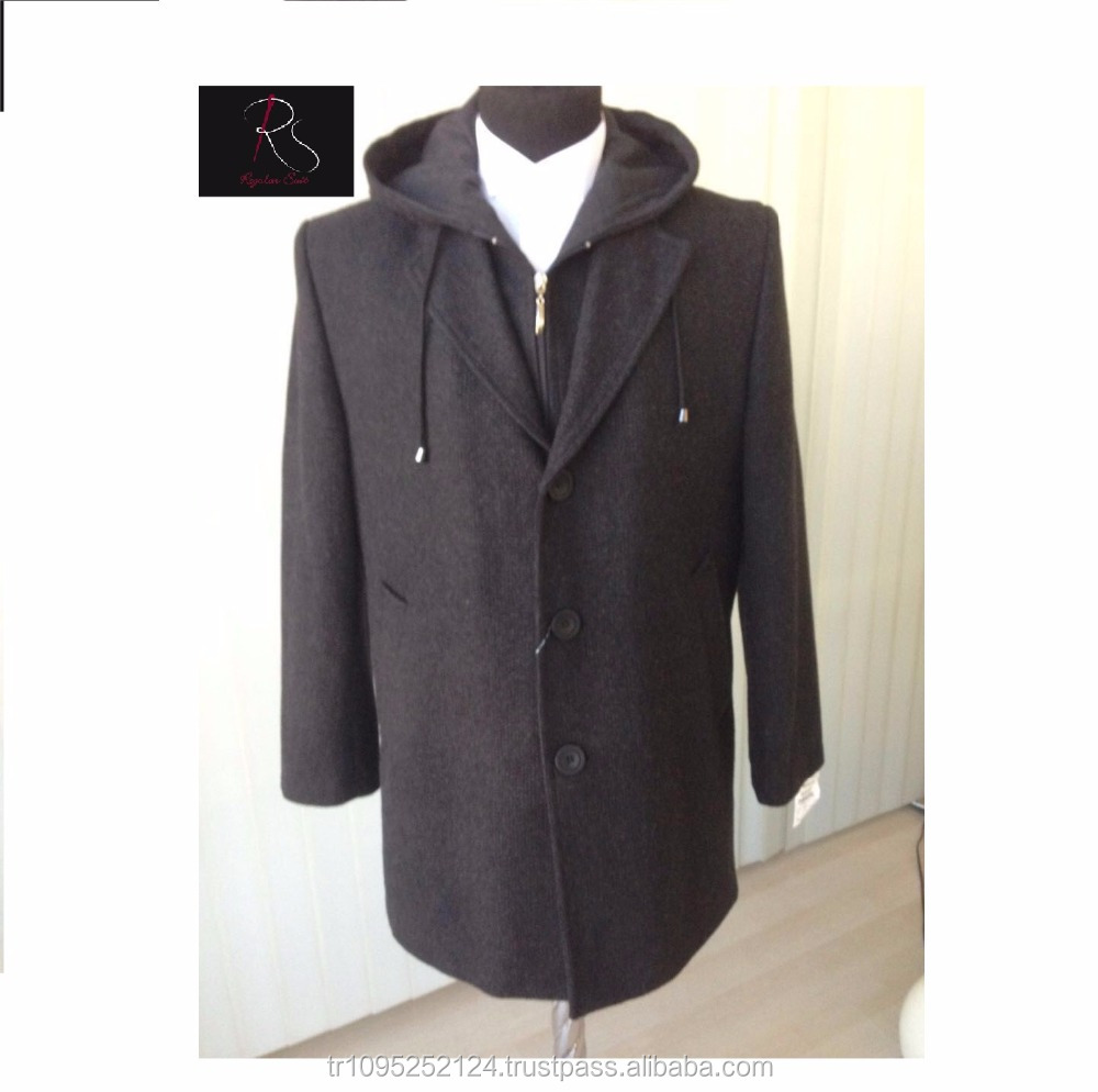 Top Selling 2017 Winter Custom Made Black Men Coat