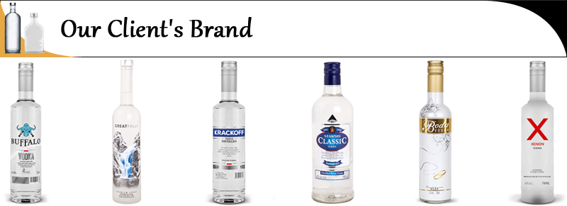 Private Label Vodka Manufacturer Supply of Pure grain Vodka
