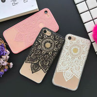 Datura Floral Phone Cases For Apple iphone 6 6S 7 7 Plus Soft Silk Cover Classic Lace Mandala Flower Fundas