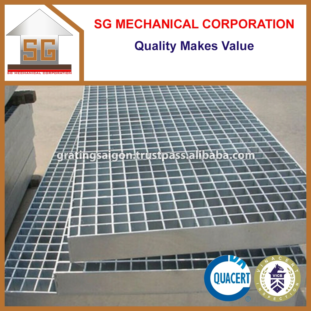 Metal Building Materials Hot Dipped Galvanized Steel Grating in Viet Nam