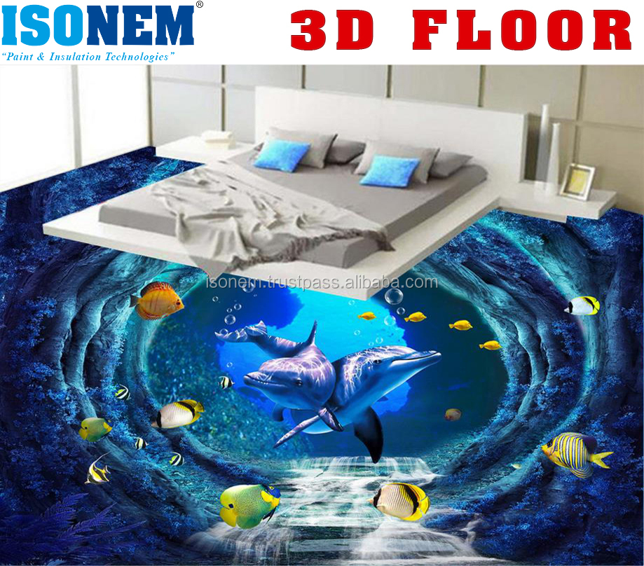 3D FLOORING, CLEAR TOP COAT, COMPLETE 3D FLOOR SET AVAILABLE
