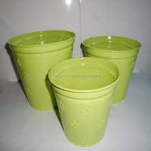 yellow coloured cheap wholesale pots and planters