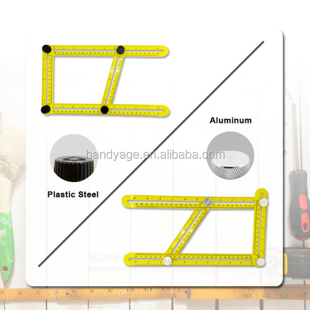 [Handy-Age]-Multi-Angle Template Tool (Plastic Steel / Aluminum Screws) (HT4700-002)