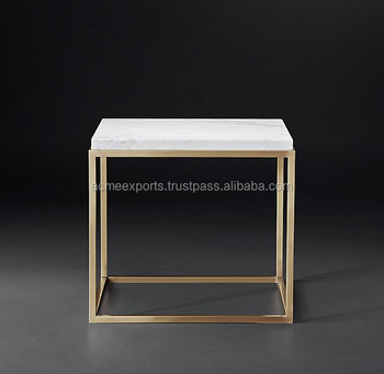 Stainless Steel Popular coffee table | Contemporary Side Coffee Table | Marble Top Coffee Table