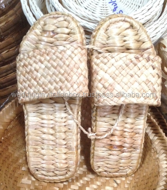 Thai Weaving Seagrass Water Hyacinth Shoes & Slipper Supply