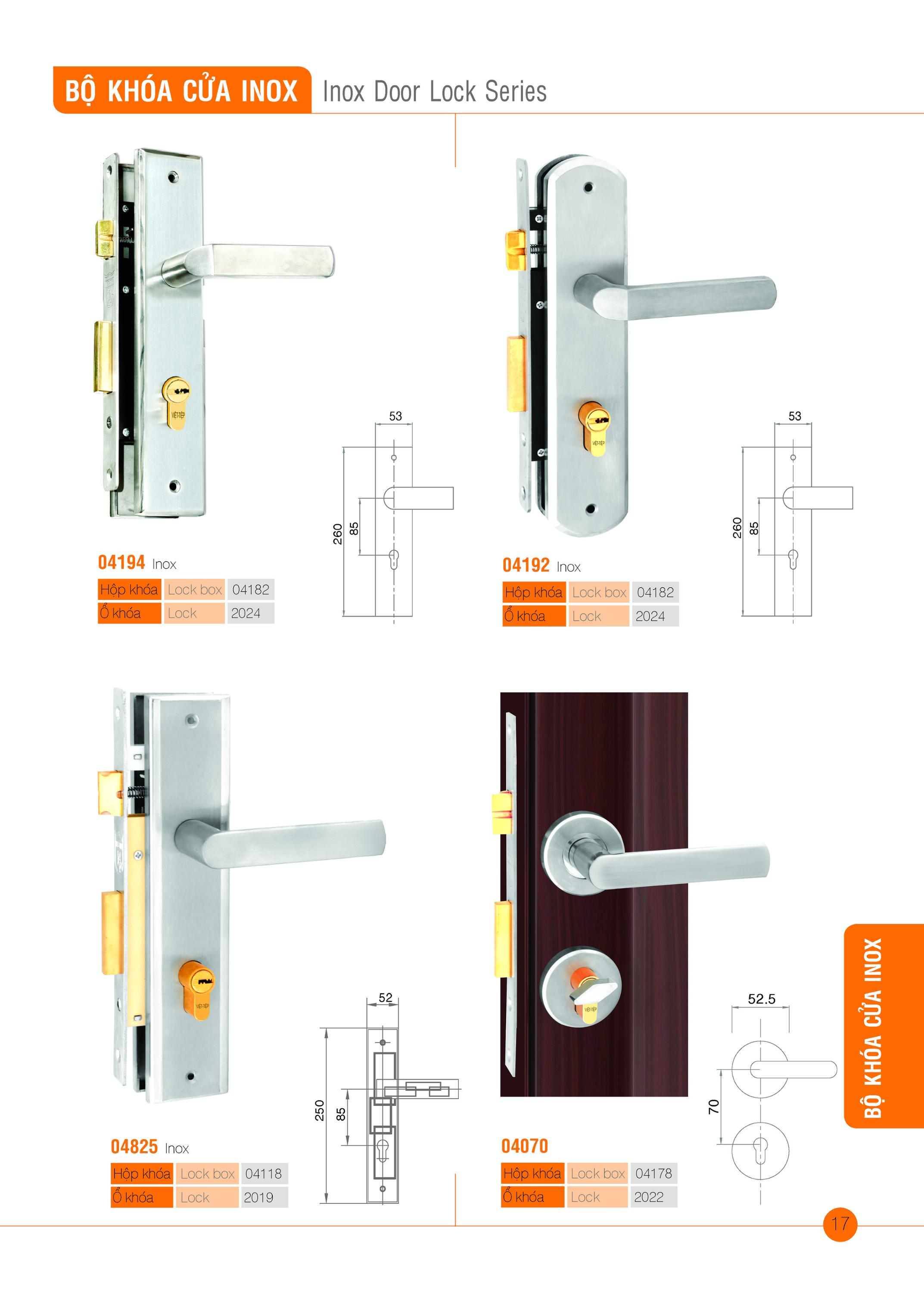 Inox Door Lock Series (Sus 17)