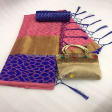 Indian Wedding Reception Party Wear, Wedding and Special Function Wear Cotton Brasso Saree in Surat
