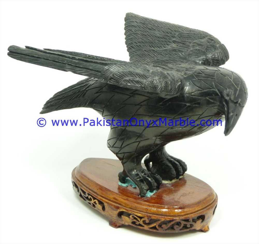 FINE QUALITY MARBLE BIRDS EAGLE STATUE SCULPTURE FIGURINE HANDCARVED