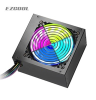 New design ATX Power Supply 12cm RGB Fan Gaming PC