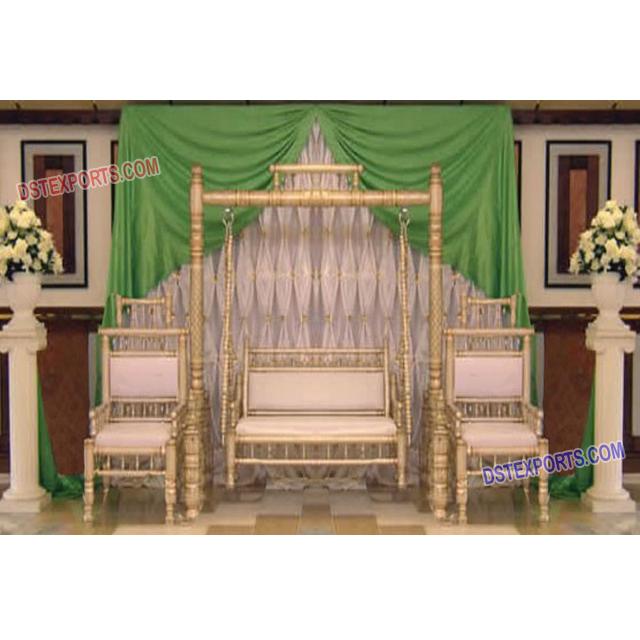 Royal Wedding Jhoola Decoration,Indian Wedding Sangeet Stage Swing Set,Best  Designed Mehndi Stage Swing , Buy Wedding Swings Manufacturer,Wooden