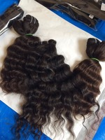 Indian Deep curly wefts, Raw Indian Virgin Hairs vendors, Indian temple hairs CURLY Hair