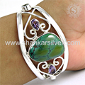 Girls new fashion silver bangle multi gemstone jewellery 925 sterling silver jewelry wholesale store