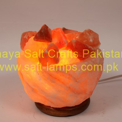 Himalayan Fancy Salt Fire Bowl Lamps / Himalayan Fancy Crystal Salt Lamps Pakistan