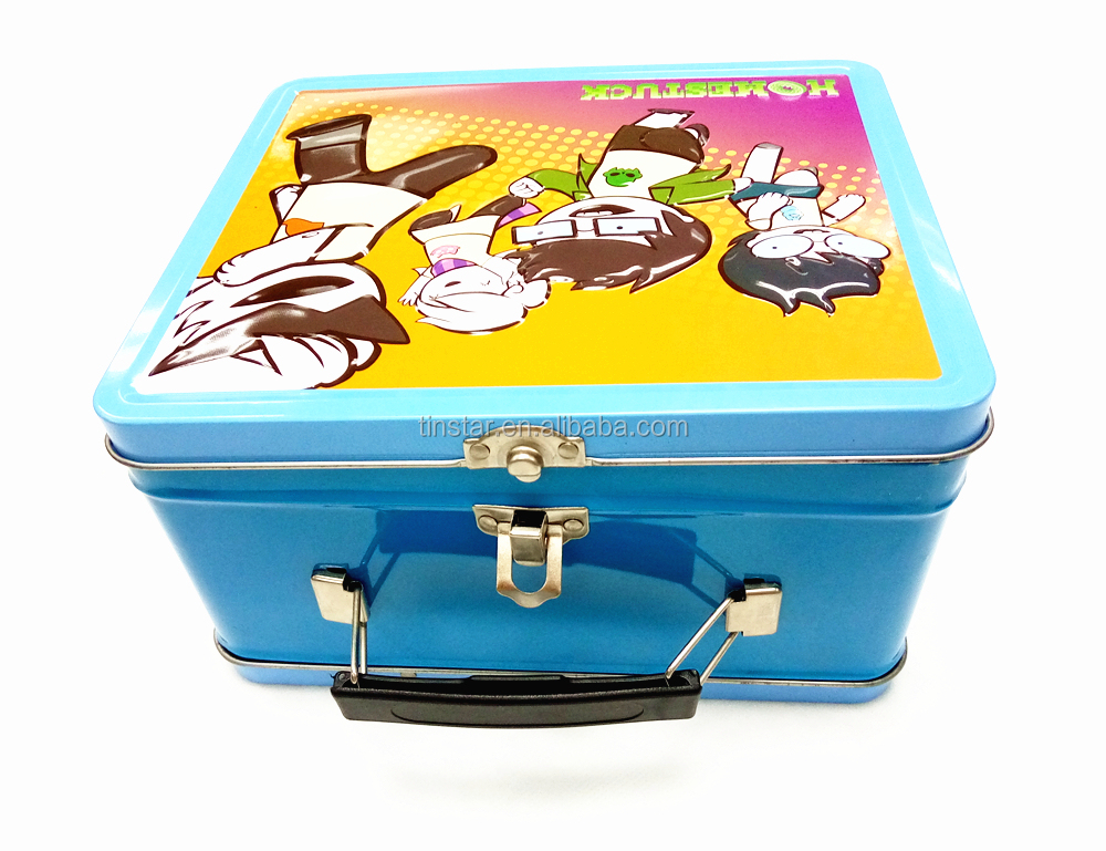 Promotional metal lunch tin box for gift packing