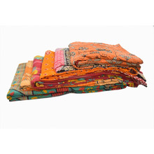 cotton fabric old recycle vintage kantha blanket quilt