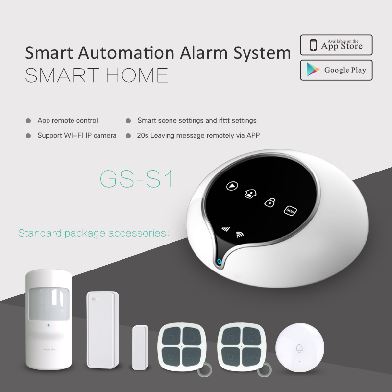 GSM WIFI GPRS Wireless Home Security Alarm System Support Smart Home Automation GSM Home Alarm System Security