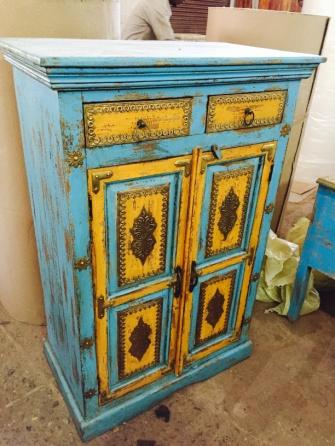 Wooden Hand Painted Wardrobe