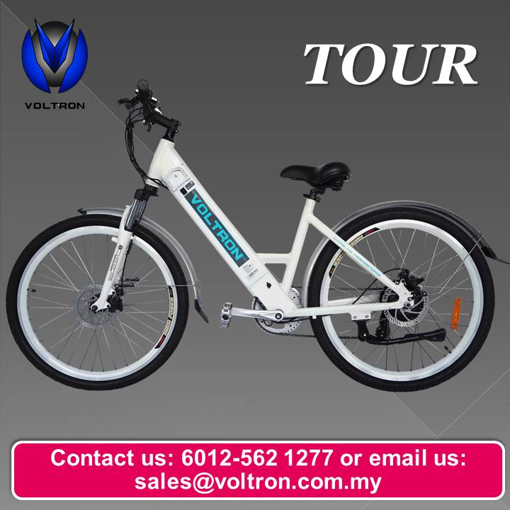 Voltron Bike Tour Electric Bicycle 36V Lithium Ion Battery 26'' inch 7800mAH 250W Brushless Made In Malaysia