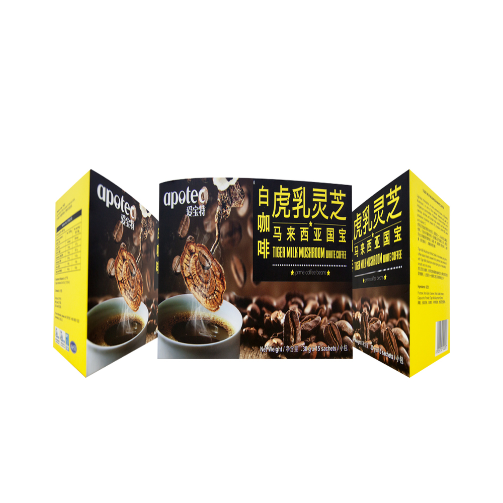 Malaysia Famous Healthy Tiger Milk Mushroom Instant White Coffee for Healthcare