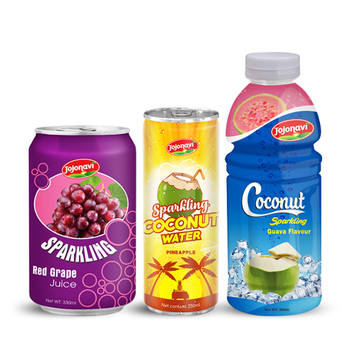 100% Sparkling Coconut Water JOJONAVI brand OEM private label