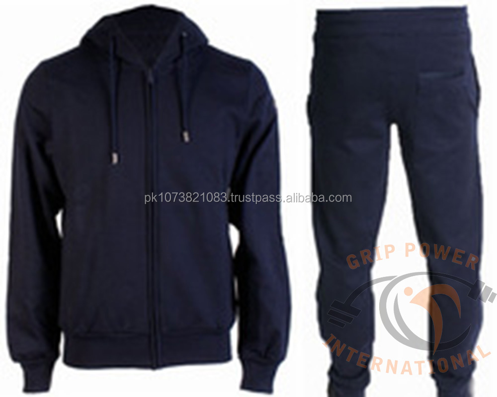 Cotton / Polyester Fleece Track suit / Jogging Training Wear