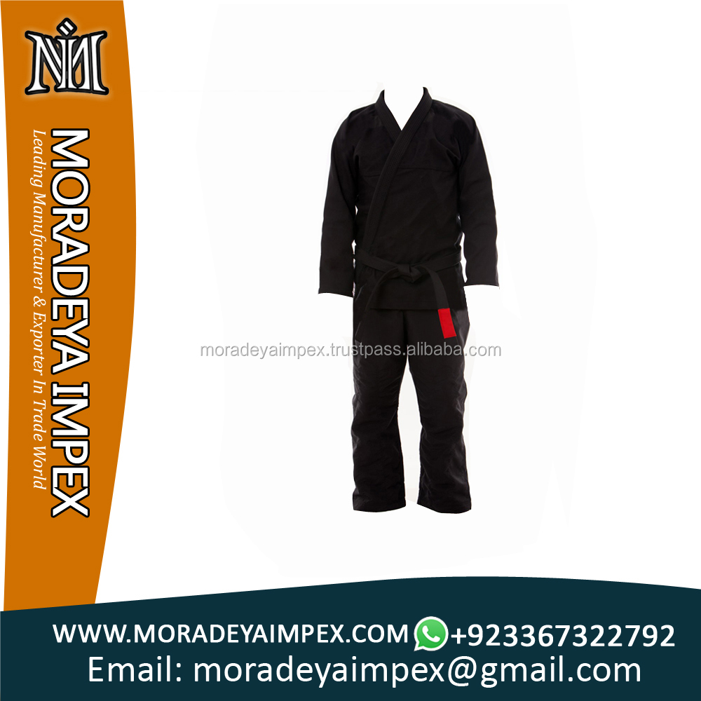 Black Brazillian jiu jitsu Gi 100%cotton professionals
