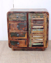 Wholesale cheap price Reclaimed antique furniture vintage TV stand sideboard cabinet