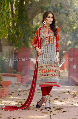 Fancy Unstitched Salwar Suits by RoyalTouch EXIM