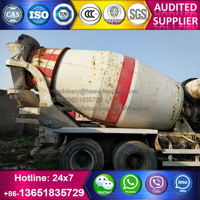 Stock 8-10 cubic meters used Isuzu concrete cement truck for sale