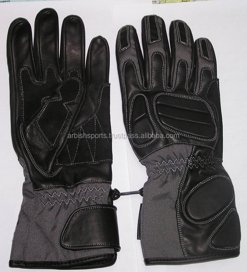 Men's Genuine Leather Motorcycle Gloves Carbon Protect Motorbike Gloves