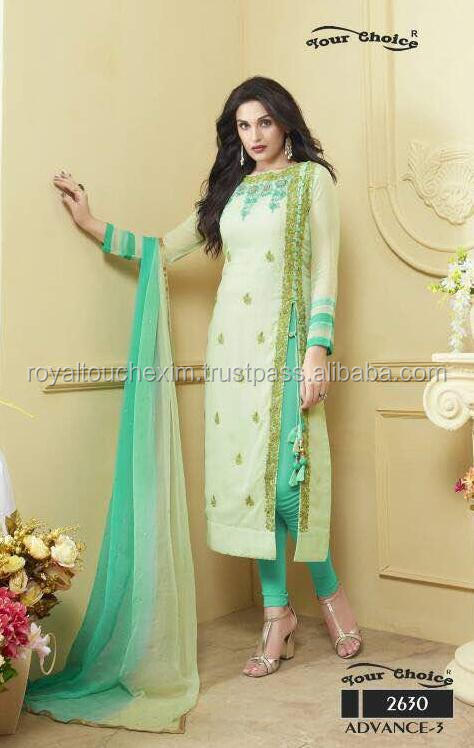 Glace cotton Embroidery work ladies salwar suit design / pakistani designer salwar kameez