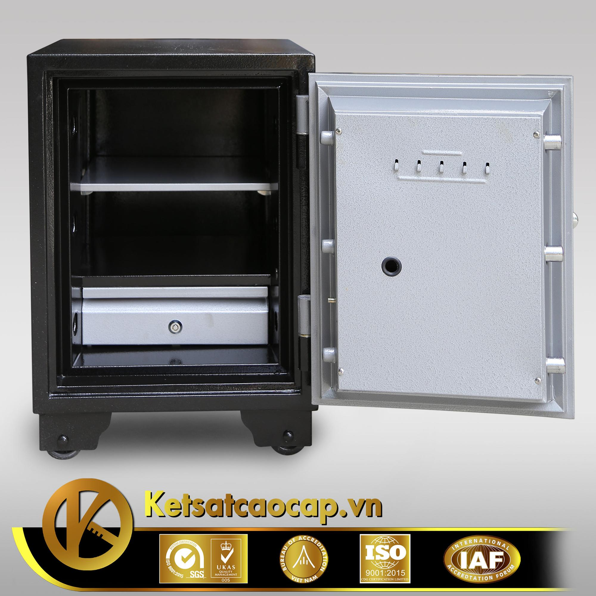 Electronic Digital Fireproof Safe Box with Key Code Secret - KCC59 E