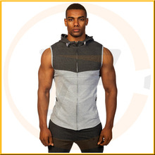 100% Polyester Dri-fit Two-tone Stringer Hoodie Mens Camo Mesh Stringer Hoodie Gym Sleeveless Workout