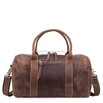 Leather Large Sports Gym Duffel Bag