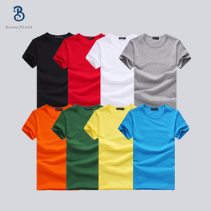 Bangladesh OEM Promotion Manufacturer 100 Cotton For Custom Printing With Logo Private Label Personalized Running Men's T shirt