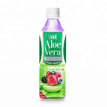500ml Original Bottle Aloe Vera Drink Sparkling with Mixed berry Juice aloe vera soft drink
