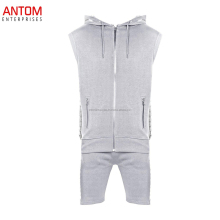 Cheap wholesale Cotton Tracksuit men/ custom jogging hooded track suits