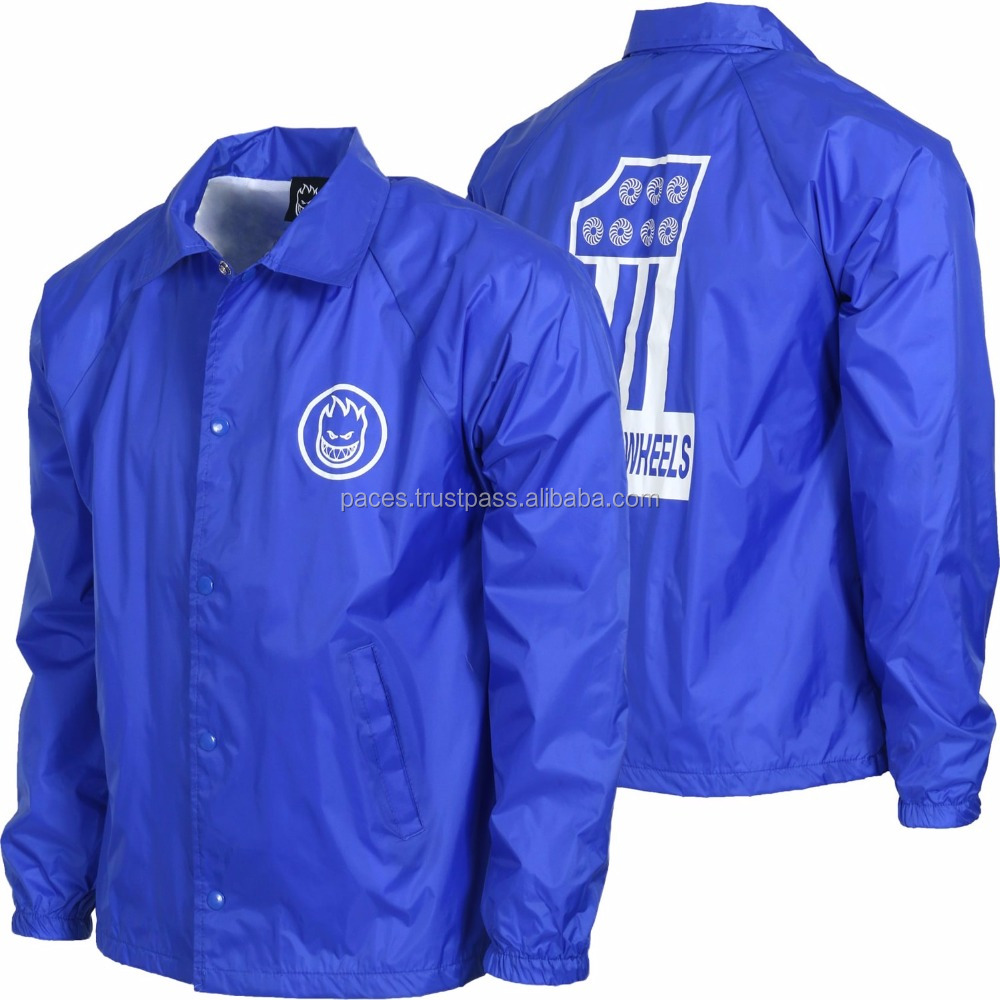 Custom Logo Coaches Jacket Wholesale Oem Royal Blue Coaches Jacket ...