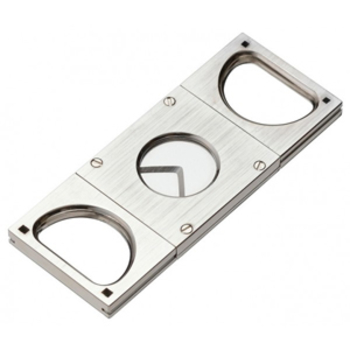 COHIBA Double Blades Guillotine Cigar Cutter Pocket Scissors Stainless Steel